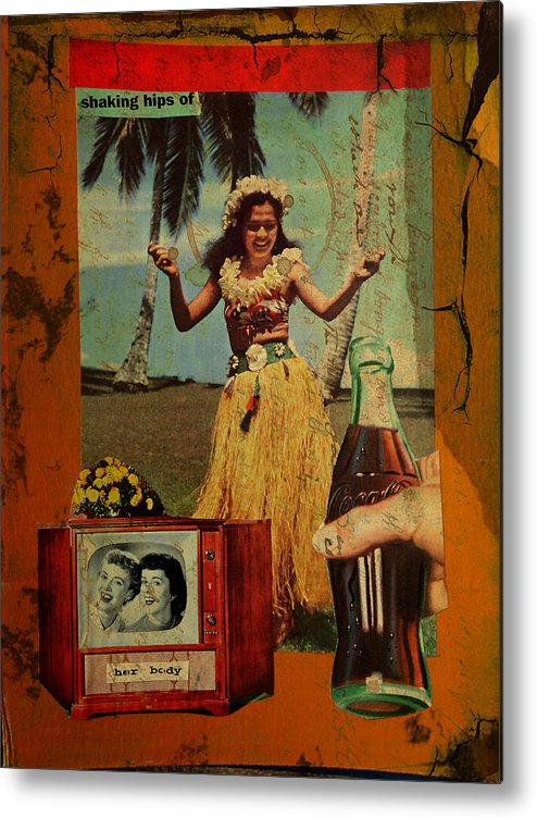 Girl Metal Print featuring the mixed media Shaking Hips by Adam Kissel