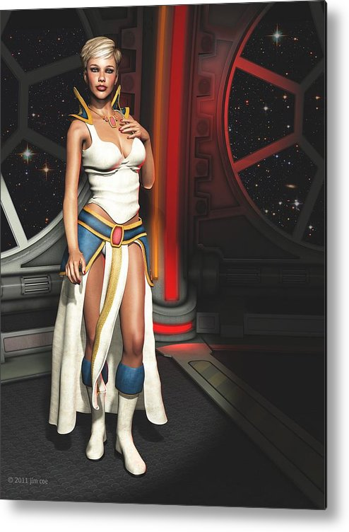 Science Fiction Metal Print featuring the digital art Meet Vani by Jim Coe