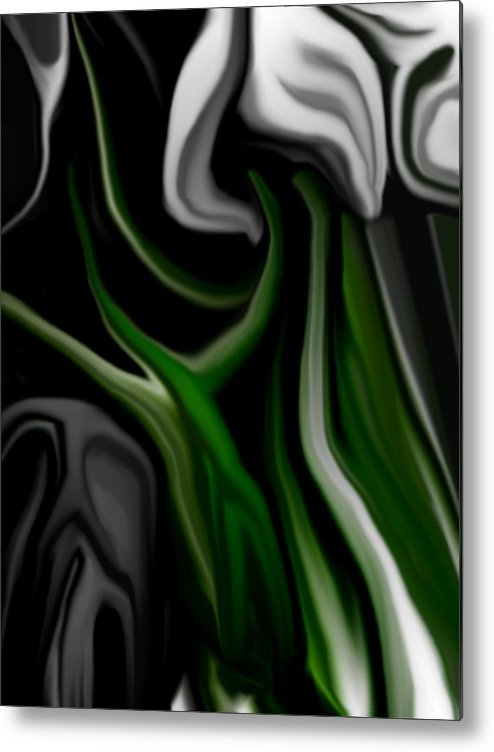 Abstract Metal Print featuring the digital art Abstract309h by David Lane