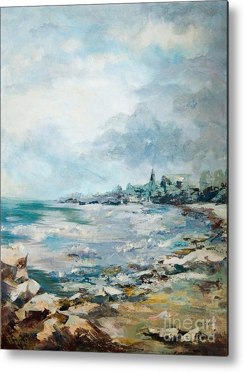 Seascape Metal Print featuring the painting Before The Storm by Elisabeta Hermann