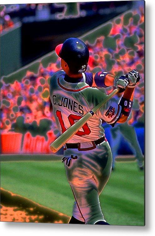 Baseball Metal Print featuring the photograph Chipper Jones by Rod Kaye