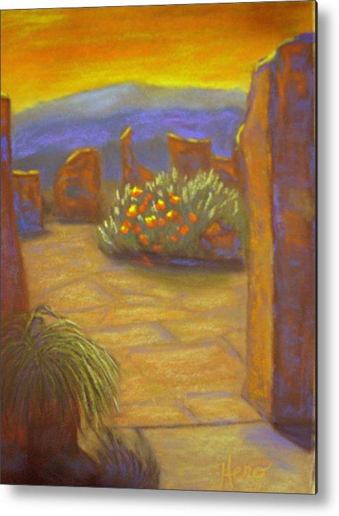 Desert Metal Print featuring the pastel Desert Rose by Marcia Hero