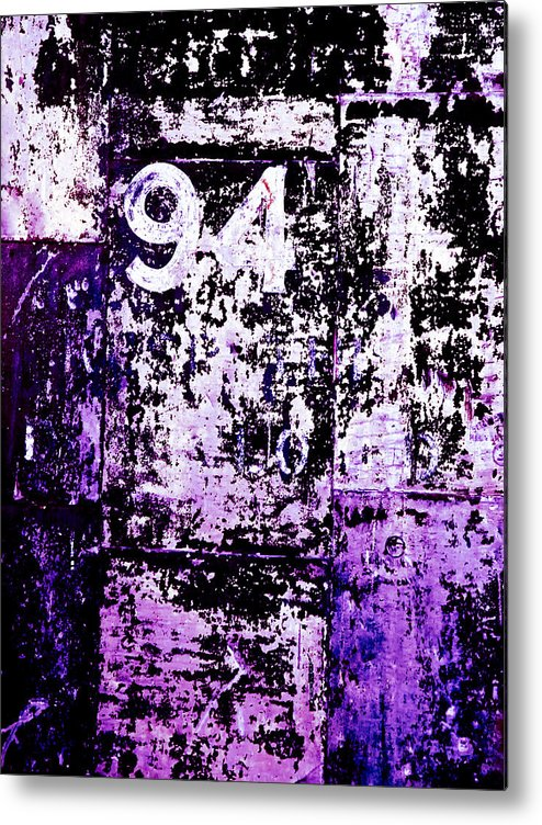 Abstract Metal Print featuring the photograph Door 94 Perception by Bob Orsillo