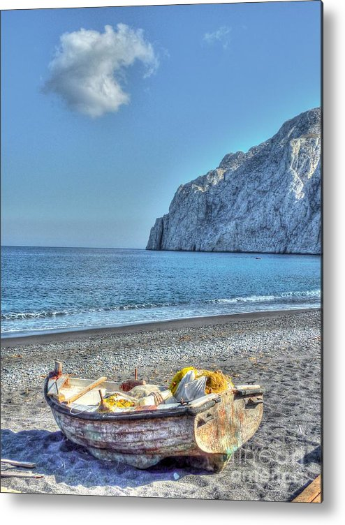 Boat Metal Print featuring the photograph Faded Beauty by Michael Garyet