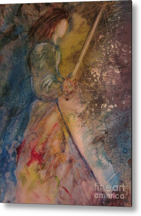 Sword Metal Print featuring the painting Fearless by Deborah Nell