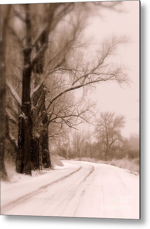 Winter Metal Print featuring the photograph Just Around The Bend by Carol Groenen