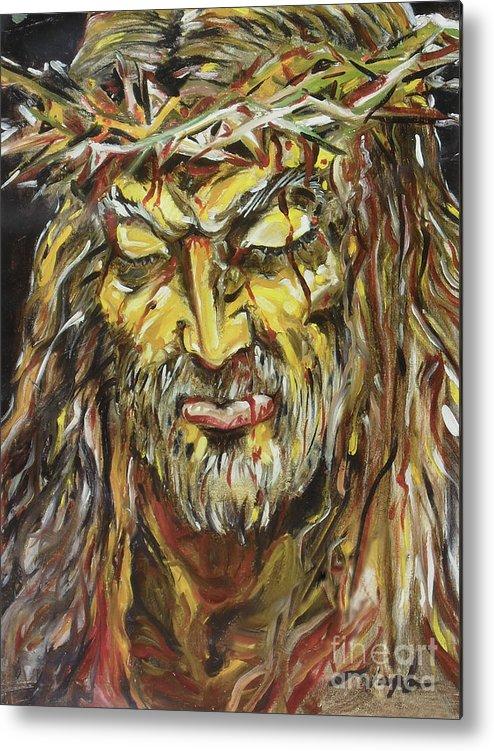 Jesus Metal Print featuring the painting Love by Joseph Palotas