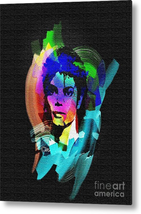 Michael Jackson Metal Print featuring the digital art Michael Jackson by Mo T