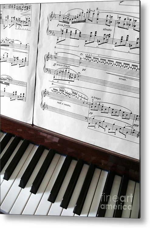 Acoustic Metal Print featuring the photograph Piano Keys by Carlos Caetano