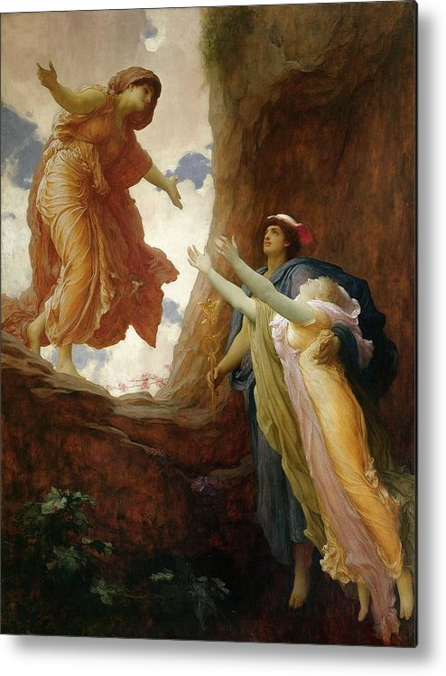 The Return Of Persephone Metal Print featuring the painting The Return Of Persephone by Frederic Leighton