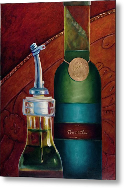Olive Oil Metal Print featuring the painting Three Million Net by Shannon Grissom