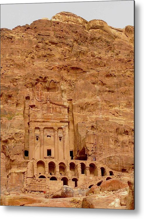 Vertical Metal Print featuring the photograph Urn Tomb, Petra by Cute Kitten Images