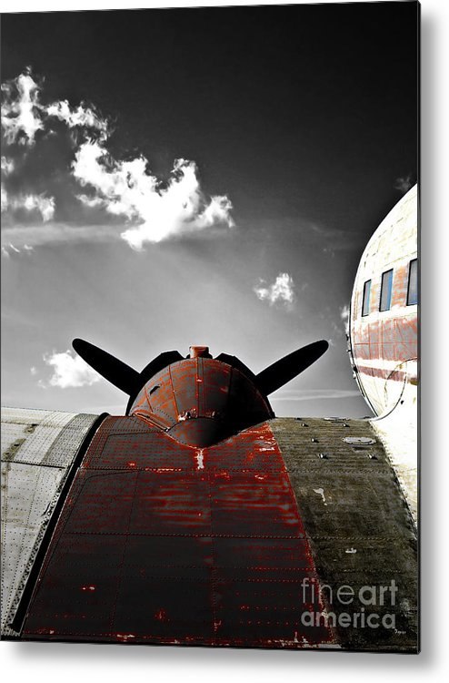 Vintage Airplane Metal Print featuring the photograph Vintage Dc-3 Aircraft by Steven Digman