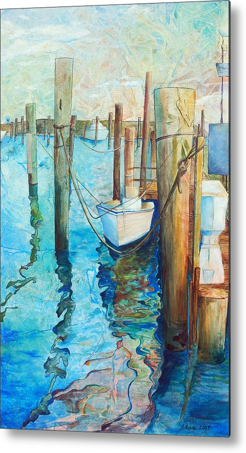 North Carolina Metal Print featuring the painting Oregon Inlet by Arlissa Vaughn