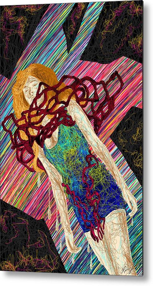 Fashion Abstraction De Dan Richters Metal Print featuring the painting Fashion Abstraction De Dan Richters by Pierre Louis
