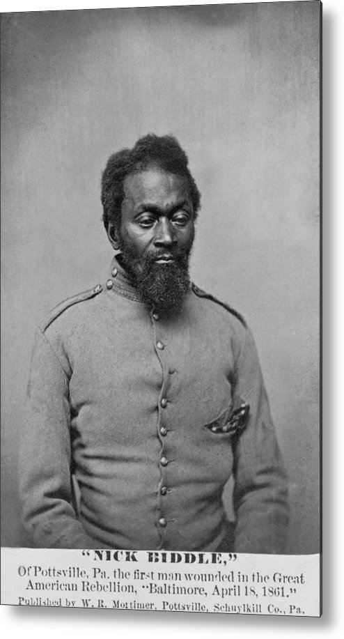 History Metal Print featuring the photograph Nicholas Biddle, An African American by Everett