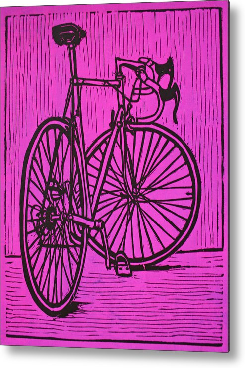 Bike Metal Print featuring the drawing Bike 4 by William Cauthern