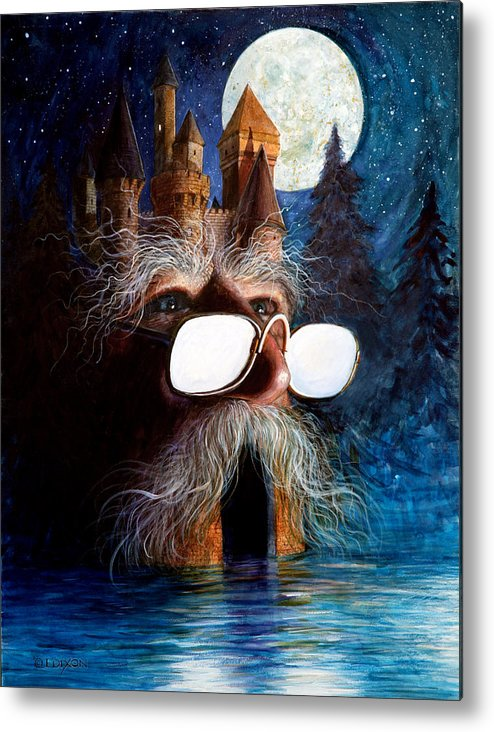 Fantasy Creatures Metal Print featuring the painting Casolgye by Frank Robert Dixon