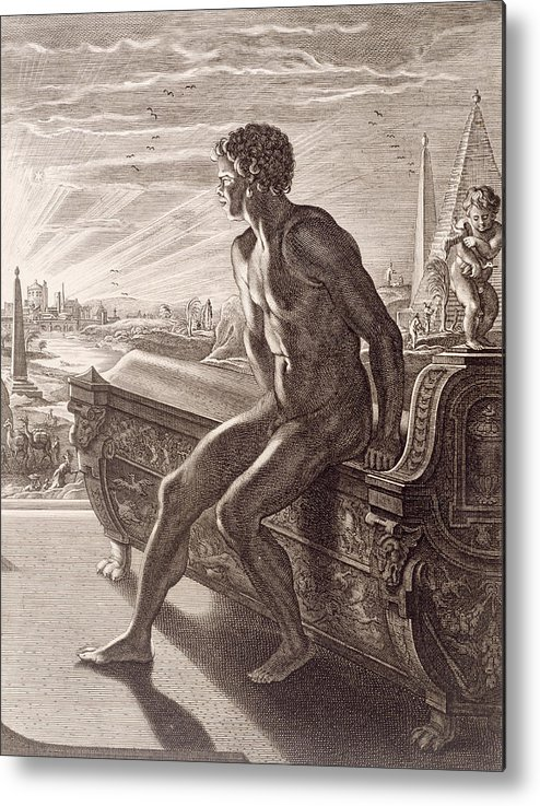 Picart Metal Print featuring the painting Memnon's Statue by Bernard Picart