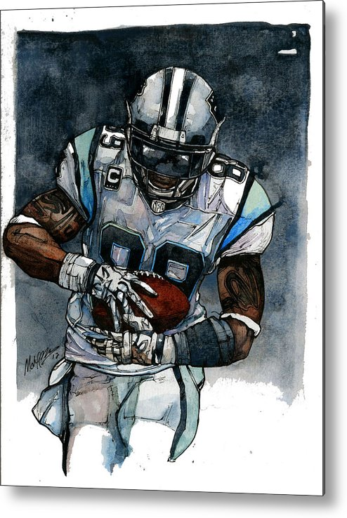 Steve Metal Print featuring the painting Steve Smith by Michael Pattison