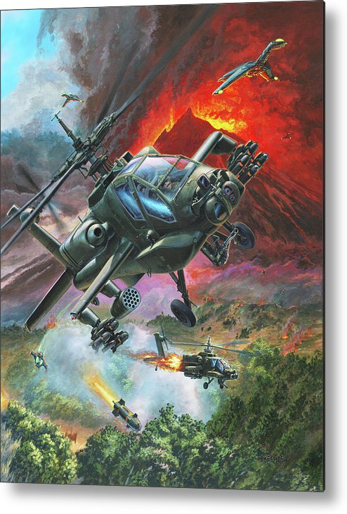 Apache Metal Print featuring the painting The Diablo Nest by Stu Shepherd