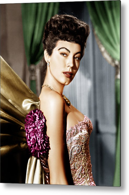 1940s Portraits Metal Print featuring the photograph Ava Gardner, Ca. Late 1940s by Everett