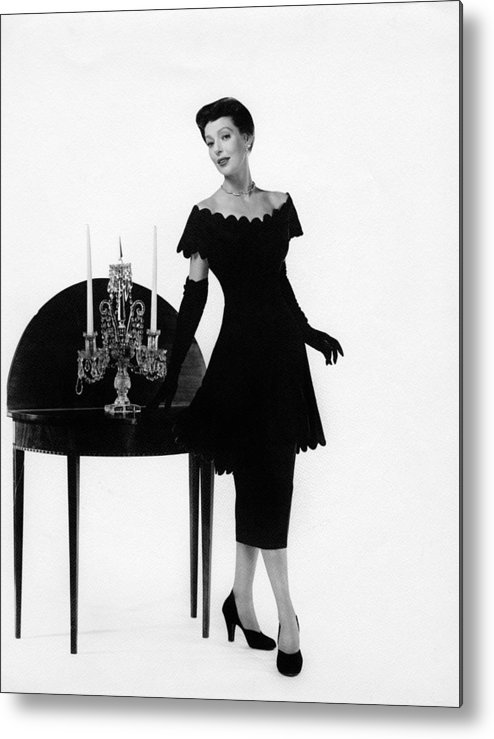 11x14lg Metal Print featuring the photograph Loretta Young, Ca. Late 1940s by Everett