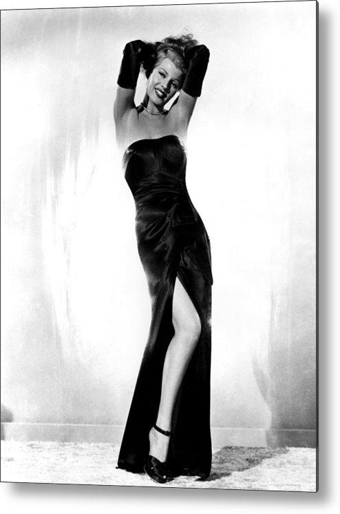 1940s Portraits Metal Print featuring the photograph Gilda, Rita Hayworth, 1946 by Everett