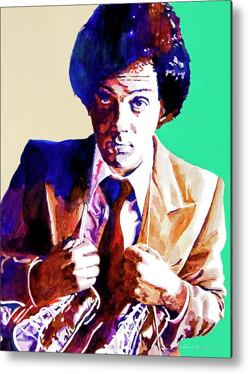 Billy Joel Metal Print featuring the painting Billy Joel - New York State Of Mind by David Lloyd Glover
