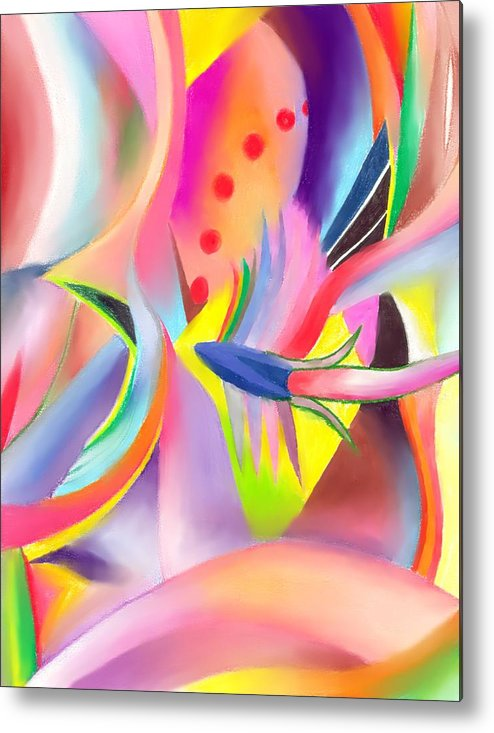Colorful Metal Print featuring the drawing Colorful Sea by Peter Shor