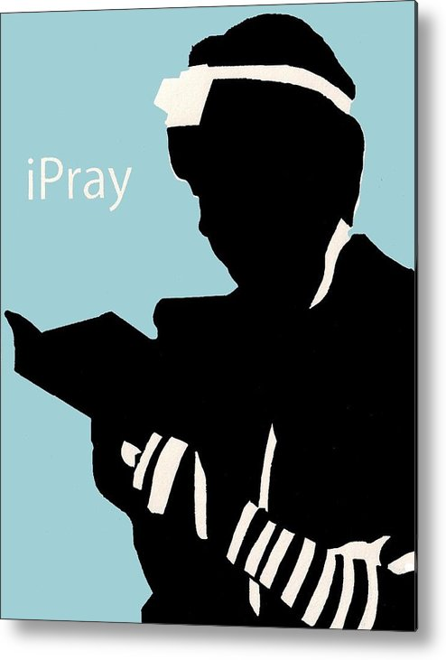 Apple Metal Print featuring the digital art Ipray by Anshie Kagan
