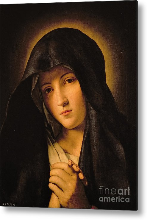 Mary Metal Print featuring the painting Madonna by Il Sassoferrato