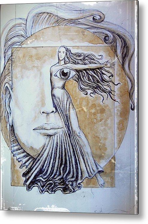 Symmetry Metal Print featuring the mixed media Symmetry by Paulo Zerbato