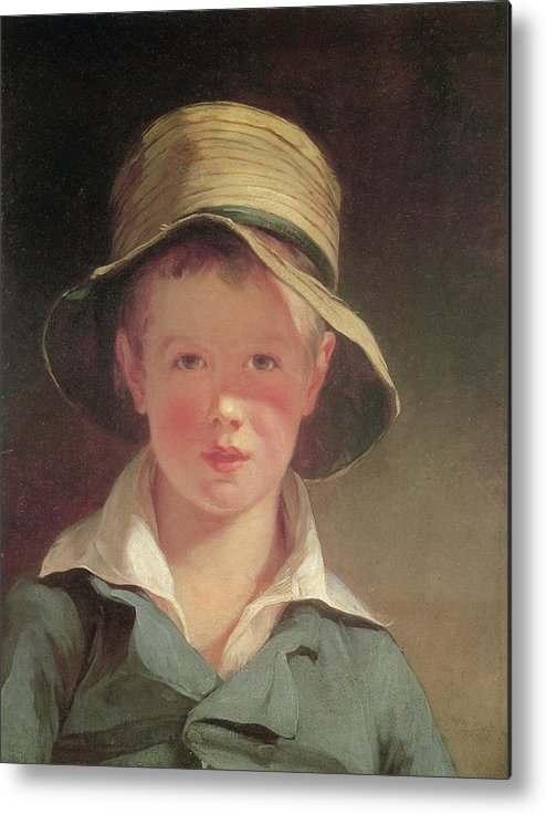 Thomas Sully Metal Print featuring the painting The Torn Hat by Thomas Sully