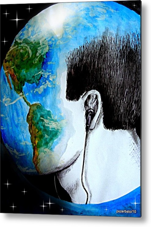 Sons Metal Print featuring the digital art Unique Way To Hear The Sounds Of Nature by Paulo Zerbato