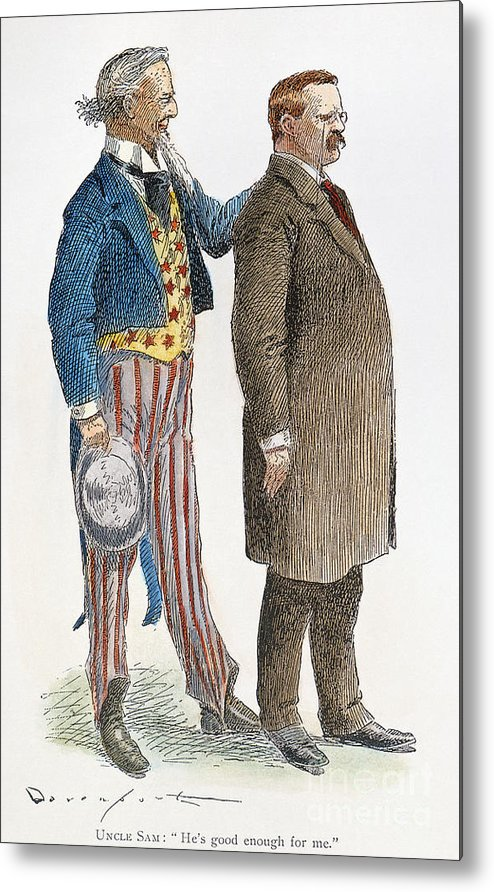 1904 Metal Print featuring the photograph Presidential Campaign, 1904 by Granger