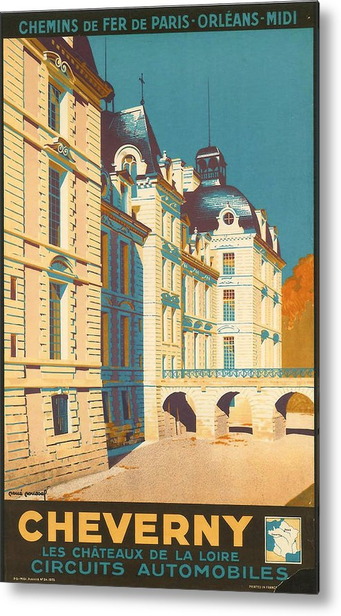 Ancient Metal Print featuring the digital art Chateau De Cheverny by Georgia Fowler