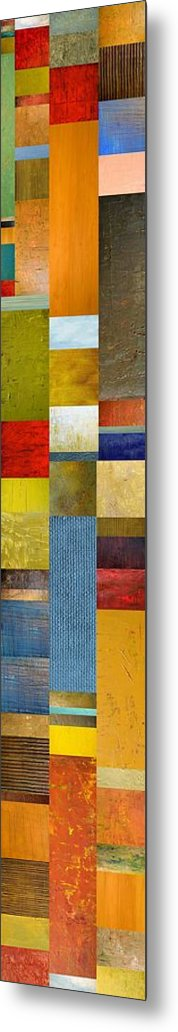 Skinny Metal Print featuring the painting Skinny Color Study Ll by Michelle Calkins