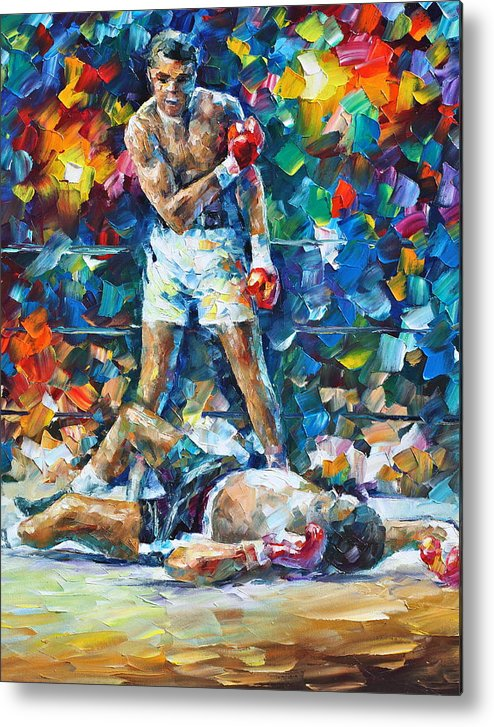 Box Metal Print featuring the painting Muhammad Ali by Leonid Afremov