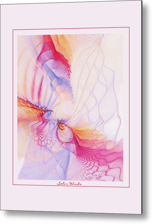 Fractal Metal Print featuring the digital art Solar Winds by Gayle Odsather