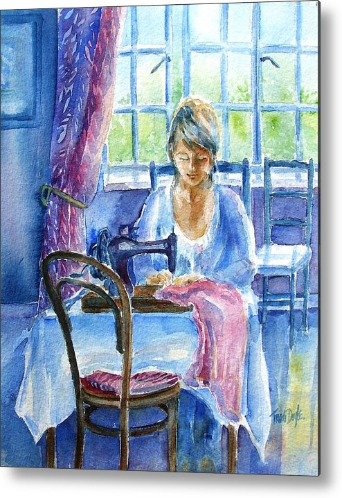 Seamstress Metal Print featuring the painting The Seamstress by Trudi Doyle