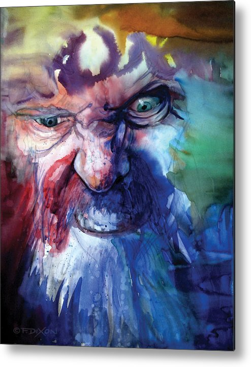 Emotions Metal Print featuring the painting Wizzlewump by Frank Robert Dixon