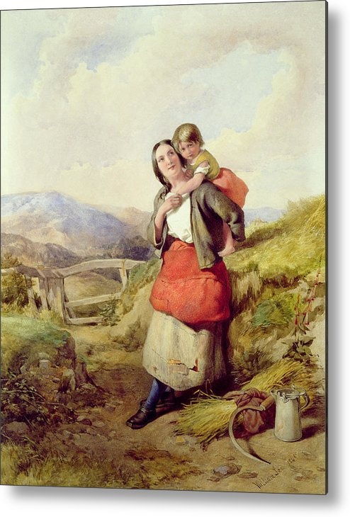 Mother Metal Print featuring the painting Going Home by William Lee