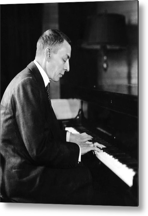 1930s Candid Metal Print featuring the photograph Russian Composer And Pianist Sergei by Everett