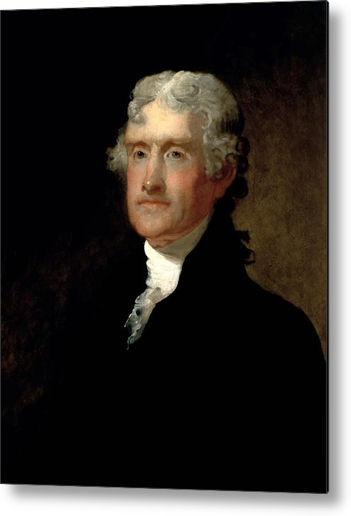 Thomas Jefferson Metal Print featuring the painting President Thomas Jefferson by War Is Hell Store