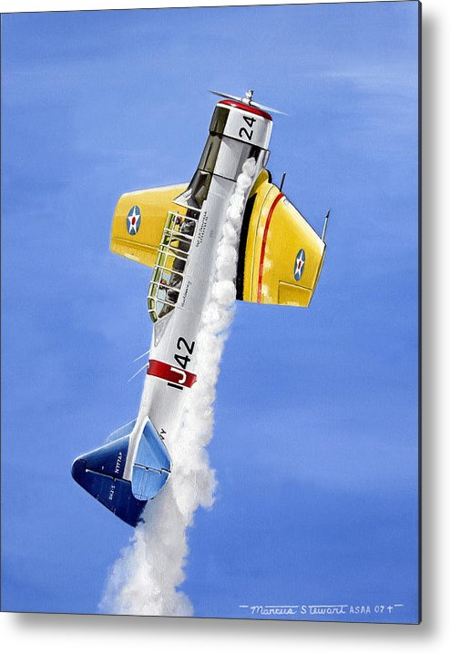Military Metal Print featuring the painting Air Show by Marc Stewart