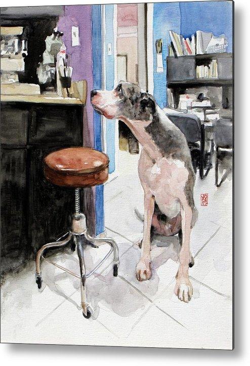 Veterinarian Metal Print featuring the painting Back Office by Debra Jones