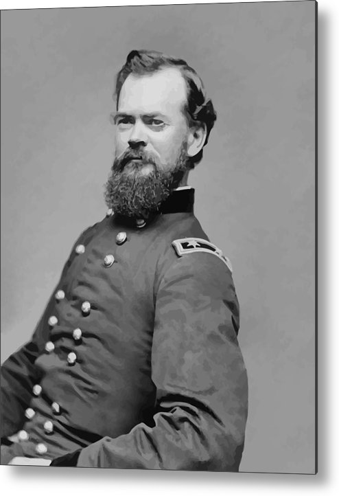 James Mcpherson Metal Print featuring the painting General James Mcpherson by War Is Hell Store
