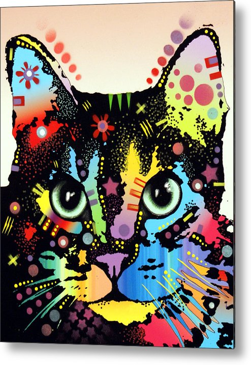 Cat Art Metal Print featuring the painting Maya Warrior by Dean Russo
