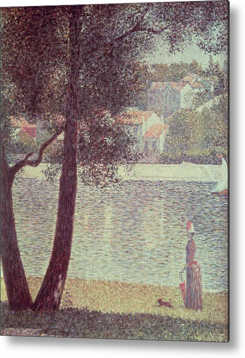 The Metal Print featuring the painting The Seine At Courbevoie by Georges Pierre Seurat